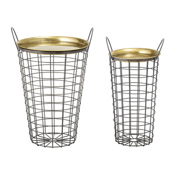 Kaia Metal Tray Table - Brass