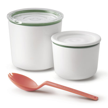 Double Lunch Pot with Spoon - Olive