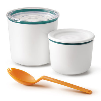 Double Lunch Pot with Spoon - Ocean
