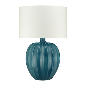 Kristiana Ceramic Table Lamp Base - Peacock