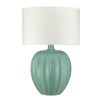 Kristiana Ceramic Table Lamp Base - Duck Egg