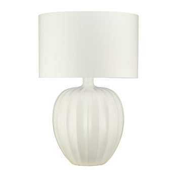 Kristiana Ceramic Table Lamp Base - Chalk