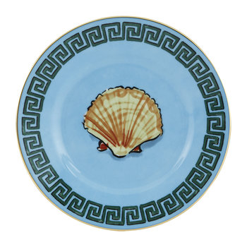 Luke Edward Hall Shell Bread Plate - Blue