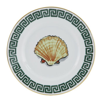 Luke Edward Hall Shell Bread Plate - White