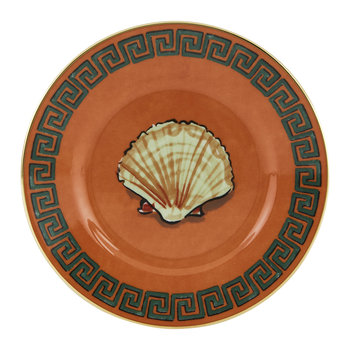 Luke Edward Hall Shell Bread Plate - Rock Orange