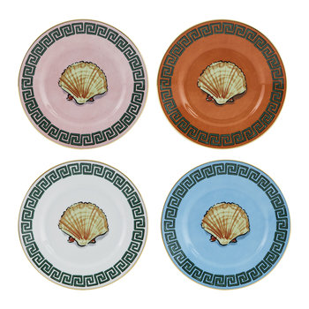 Luke Edward Hall Shell Bread Plate - Set of 4