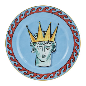 Luke Edward Hall Crown Dinner Plate - Sea Blue