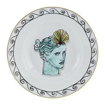 Luke Edward Hall Coral Crown Soup Plate - White