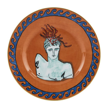 Luke Edward Hall Coral Crown Dessert Plate - Rock Orange