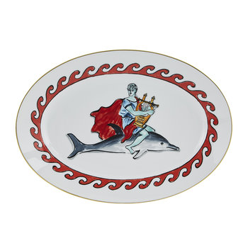 Luke Edward Hall Dolphin Oval Platter - White
