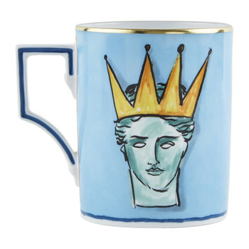 Luke Edward Hall Crown Mug - Sea Blue