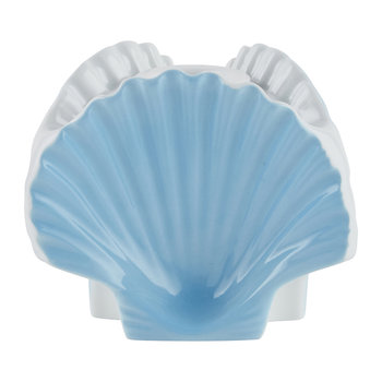 Luke Edward Hall 3 Shells Vase/ Candle Holder - Sea Blue