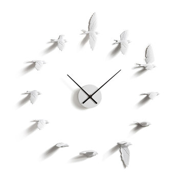 Swallow X Clock - White