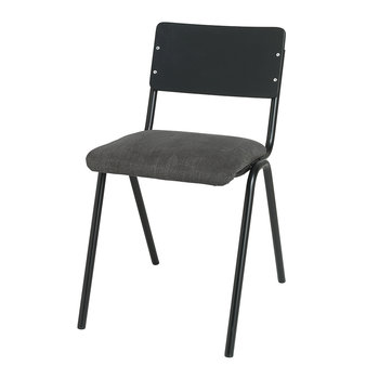 Ole Steel Wood Chair - Black Steel/Magnet