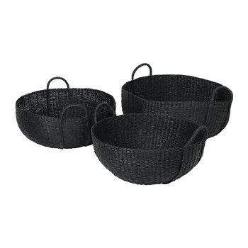 Astrid Sea Grass Basket - Black