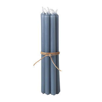 Tall Candle - Set of 8 - Petrol Blue