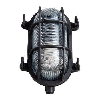 Oval Bulkhead Outdoor Wall Light - Bronze