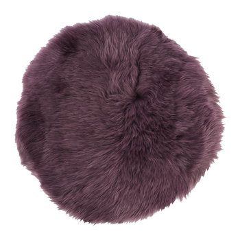 New Zealand Sheepskin Seat Pad - Long Wool - Aubergine