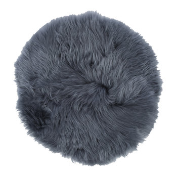 New Zealand Sheepskin Seat Pad - Long Wool - Navy