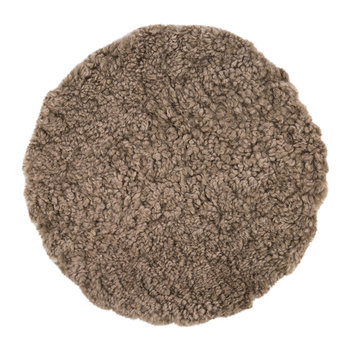 New Zealand Sheepskin Seat Pad - Short Wool Curly - Taupe