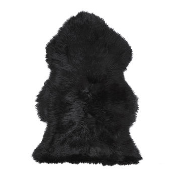 New Zealand Sheepskin Rug - 90x60cm - Black