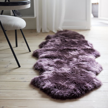 New Zealand Sheepskin Rug - 180x60cm - Aubergine