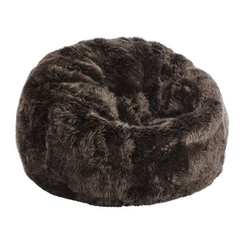 New Zealand Sheepskin Bean Bag - Chocolate