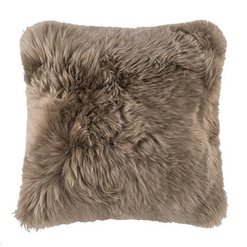 New Zealand Sheepskin Pillow - 50x50cm - Taupe