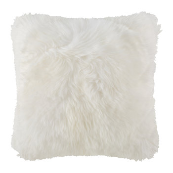 New Zealand Sheepskin Pillow - 50x50cm - Ivory