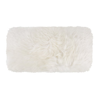 New Zealand Sheepskin Pillow - 28x56cm - Ivory