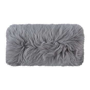 New Zealand Sheepskin Pillow - 28x56cm - Light Gray