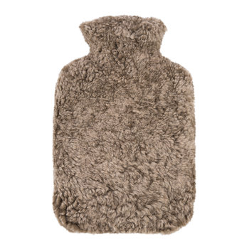 Sheepskin Hot Water Bottle - Taupe