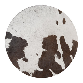 Cowhide Seat Pad - Salt & Pepper Black