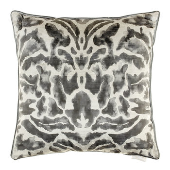 Nikko Velvet Cushion - 50x50cm - Charcoal