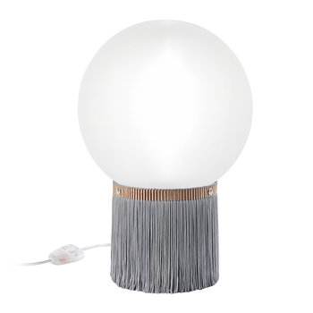 Atmosfera Fringe Table Lamp - Grey