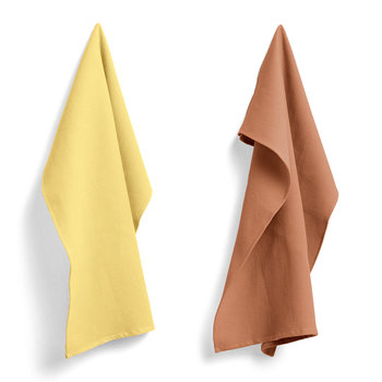 Waffle Tea Towel - Set of 2 - Terracotta / Yellow