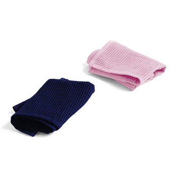 Waffle Dish Cloth - Set of 2 - Cool Rose / Midnight
