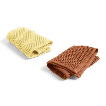 Waffle Dish Cloth - Set of 2 - Terracotta / Yellow