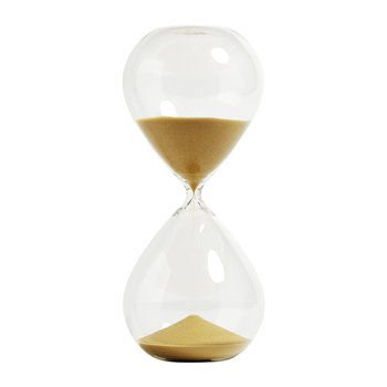 Glass Sand Timer - Gold