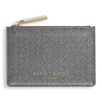 Alexa Metallic Card Holder - Charcoal Shimmer