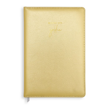 PU Notebook - Metallic Gold