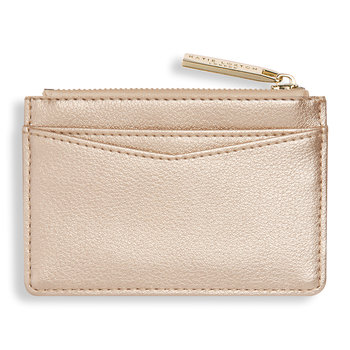 Alise Card Holder - Metallic Champagne