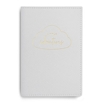Baby Passport Holder - Little Adventures - Pale Grey