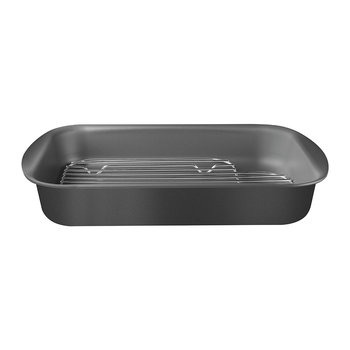 Brazil Roasting Pan and Stainless Steel Rack - Black