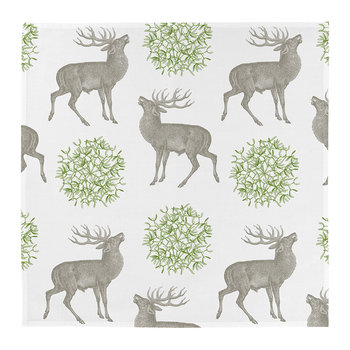 Stag & Mistletoe Napkins - Set of 4
