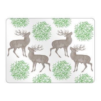 Stag & Mistletoe Placemats - Set of 4