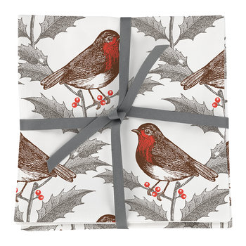 Robin & Holly Napkins - Set of 4