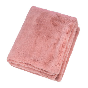 Sophie Faux Fur Throw - Pink