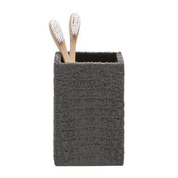 Hawen Toothbrush Holder - Black Croc