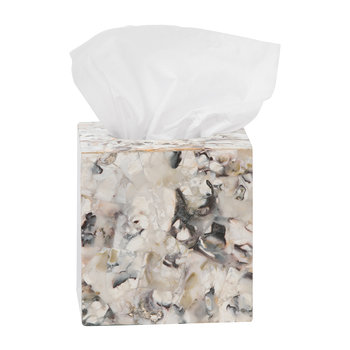 Tramore Tissue Box - Oyster Shell